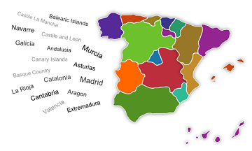 Map Of Spain Quiz.Spain Regions Quiz Spain