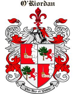 O'RIORDAN family crest